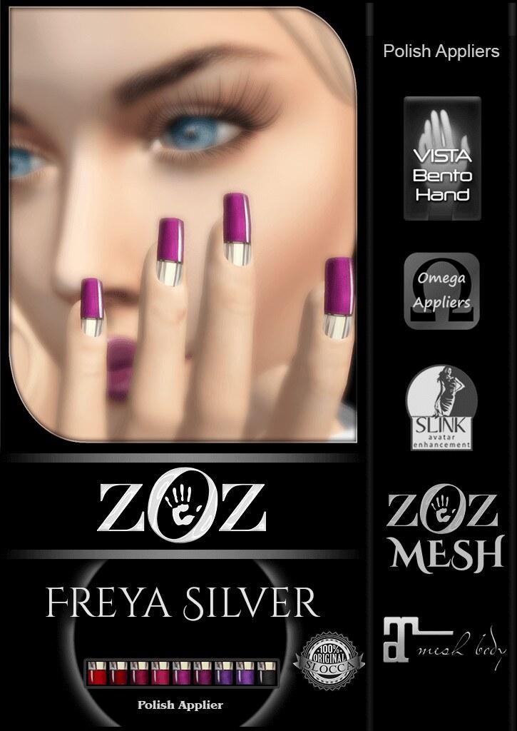 {ZOZ} Freya Silver pix L - SecondLifeHub.com
