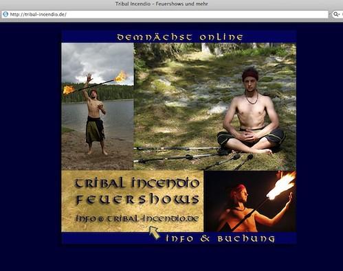 Tribal Incendio: Webb-Visitkort
