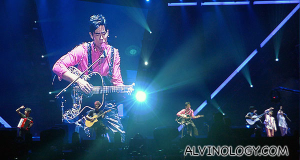 Jay Chou on the guitar