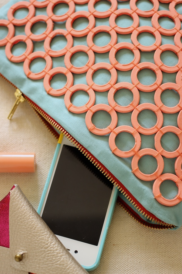 Fabric Paper Glue | DIY Mod Podge Melts Embellished Clutch
