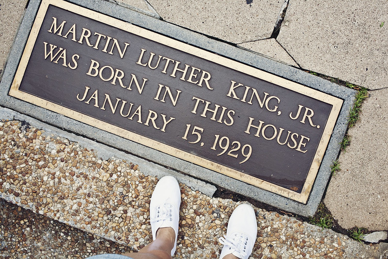 Outside of Martin Luther King's house, Auburn ave, Atlanta