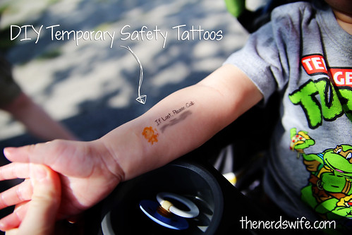 diy temporary safety tattoos the nerd 39 s wife