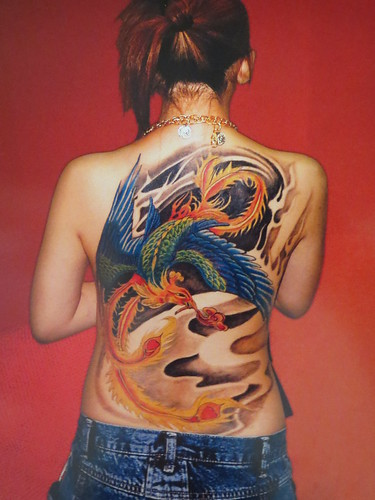 Phoenix Tattoo on Woman