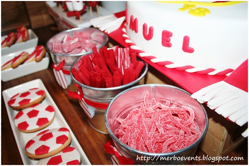 Sweet table red&white Merbo Events