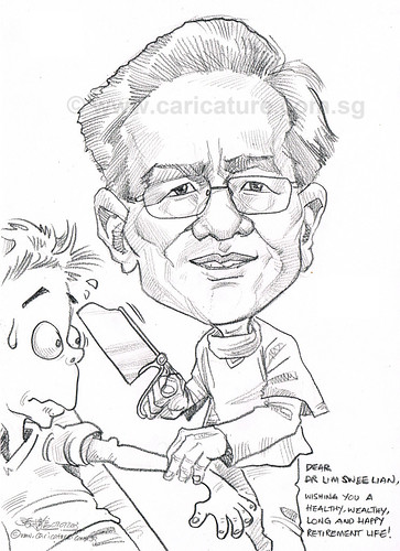 Orthopaedic Surgeon caricature for Alexandra Health