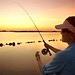 Sunset fly casting at Back Bay National Wildlife Refuge, VA by USFWS Fish and Aquatic Conservation