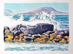 """La Graciosa tras las olas"" // ""La Graciosa behind the waves"""