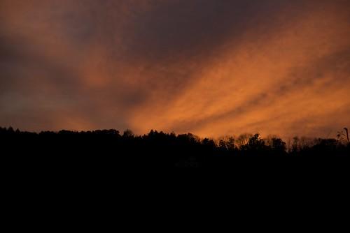 sunset usa clouds landscape vermont quechee