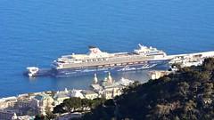 Mein Schiff 1 in Monaco, taken from Beausoleil, Provence-Alpes-Côte d'Azur, France