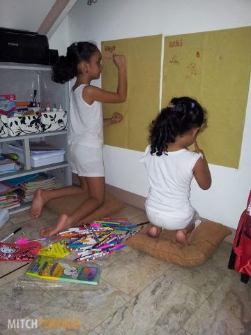 Kids in doodle