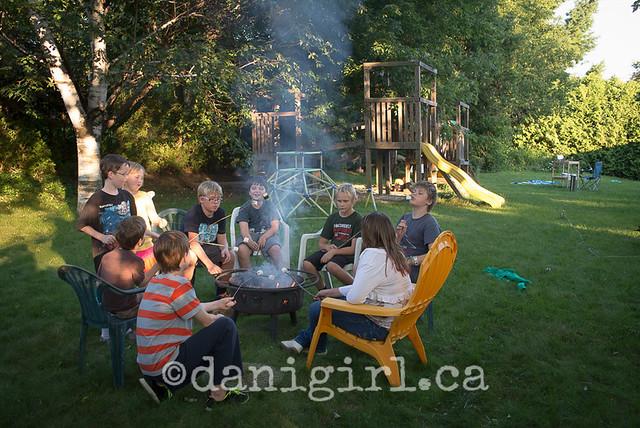 photo of kids roasting marshmallows