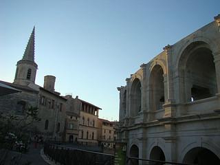 110 eten in Arles bij de arena
