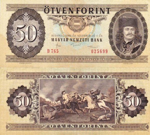 50 Forintov Maďarsko 1986, Pick 170g