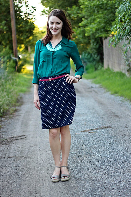 polka-dot-skirt,-teal-shirt-1