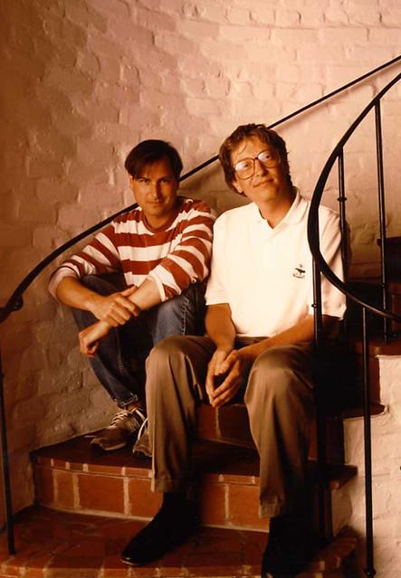 Steve Jobs and Bill Gates circa 1991