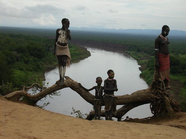 Ethiopia, Omo River, Karo Tribe