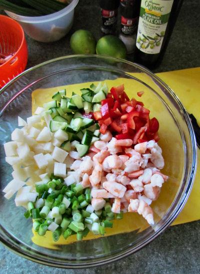 Shrimp Ceviche Prep