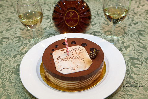 My early birthday cake from Financier - Marechal Praline