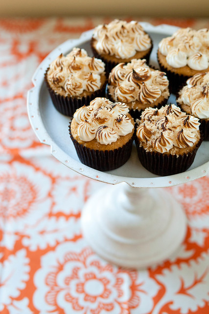 Sweet Potato Cupcakes with Toasted Marshmallow Frosting | Annie's Eats