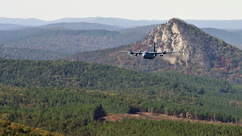 trees mountain mountains fall rock force unitedstates little air hills arkansas airforce propeller base hercules pinnacle c130 ouachita lowlevel flatside satuma