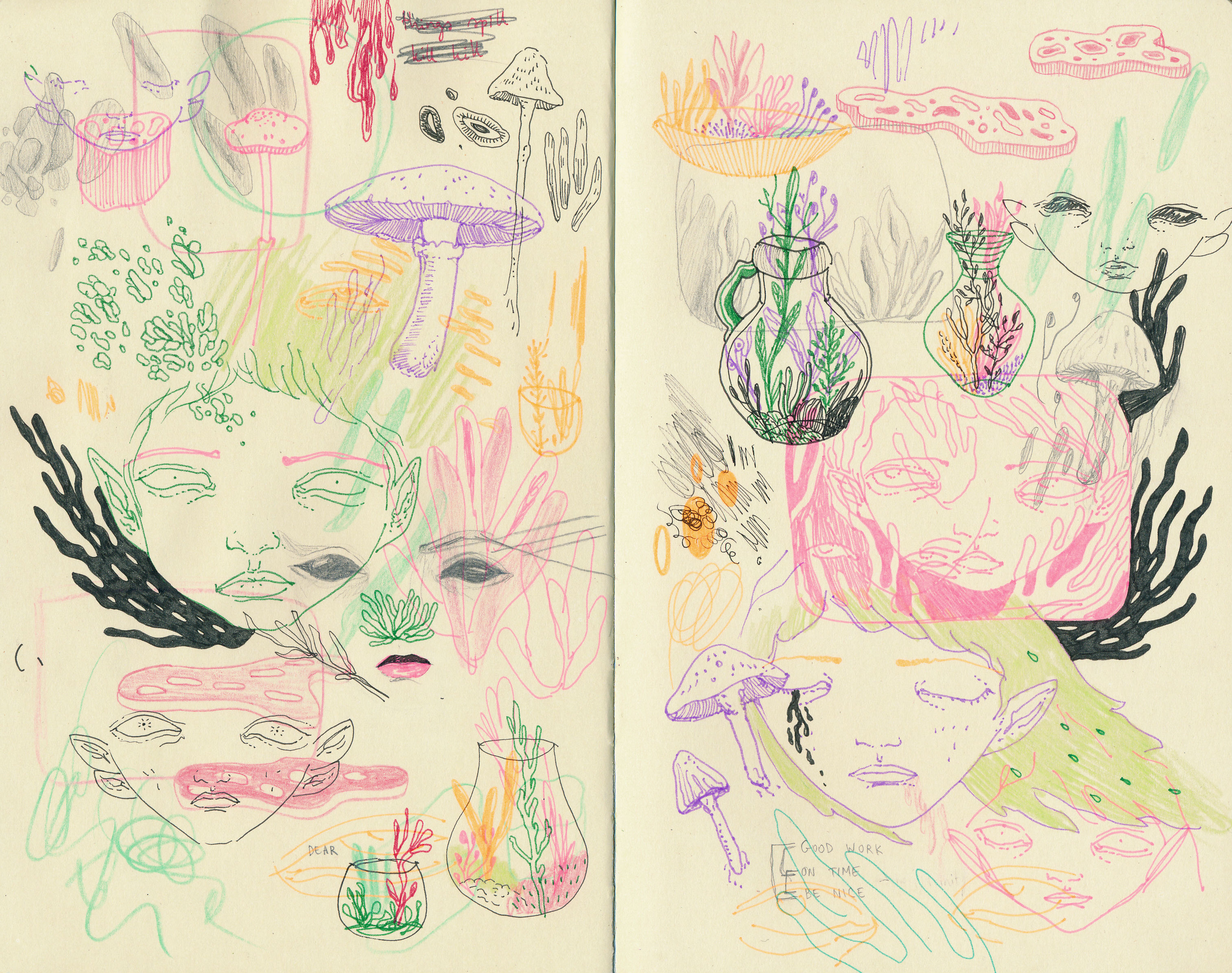 sketchbook doodles