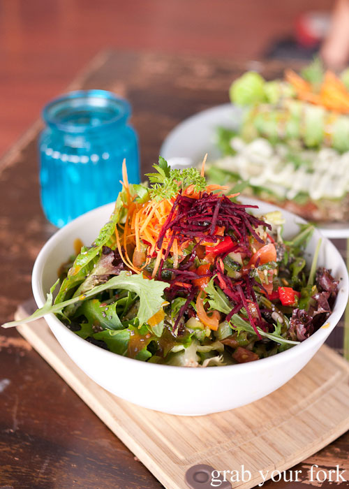 Superfood salad with chia seeds and goji berries at Sadhana Kitchen pop-up store on Enmore Road