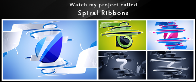 My other  projects Spiral Ribbons