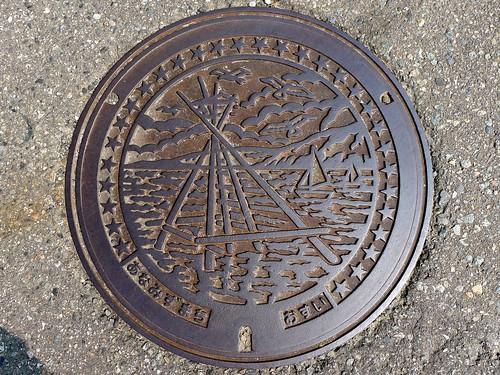 Anamizu Ishikawa, manhole cover 2 (石川県穴水町のマンホール2)