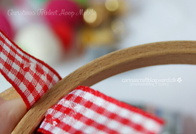 Christmas Trinket Hoop Mobile