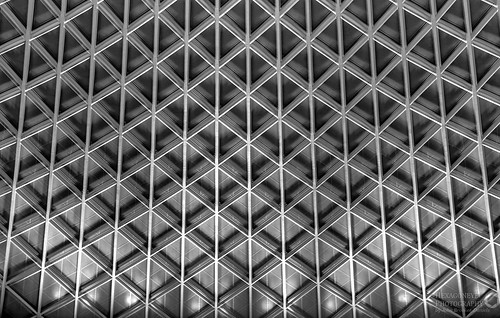 Kings Cross Roof B&W HDR by Hexagoneye Photography