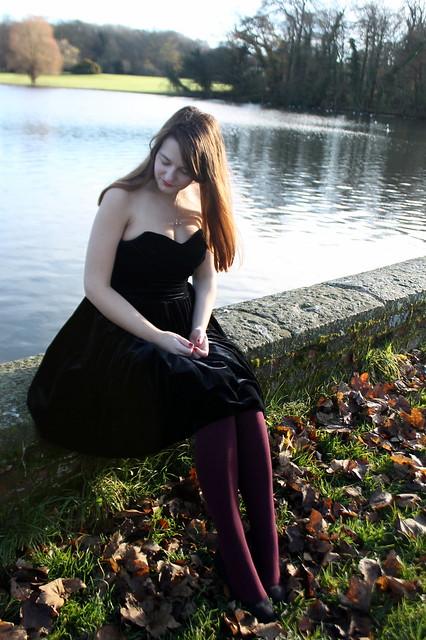 Coast Tulia Dress, tights, heels