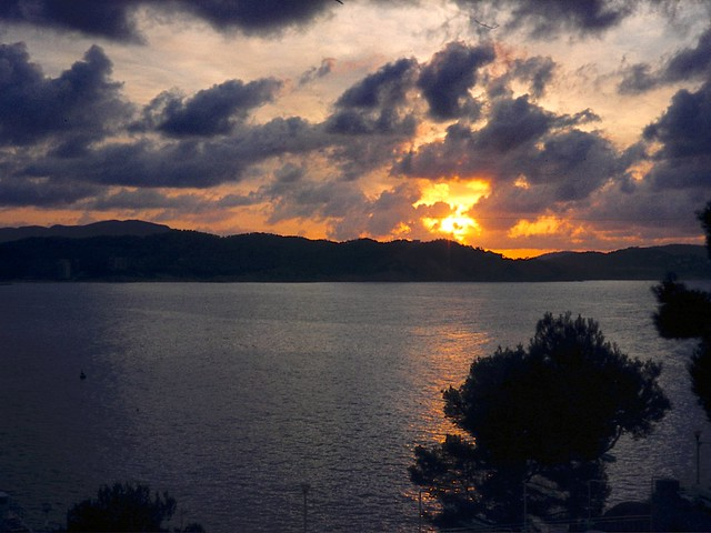 Sunrise over Mallorca, Spanish Baleares, 1976