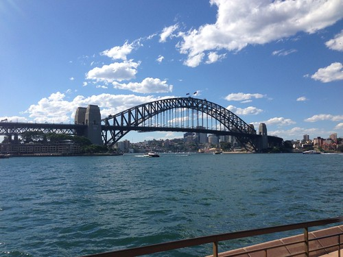 Harbor bridge on a clear day