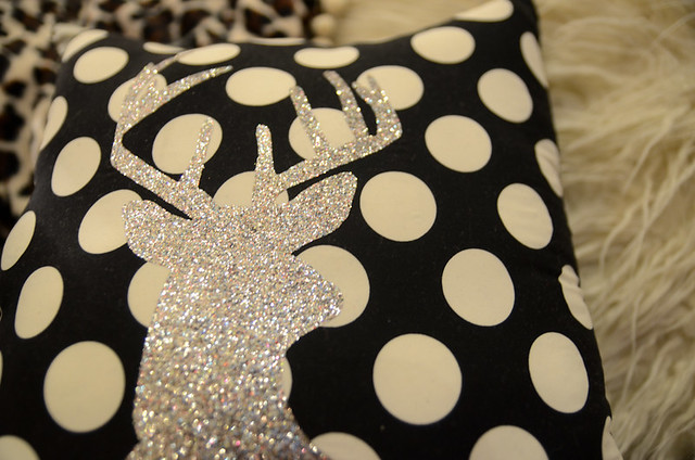 DIY Glitter Deer Pillow