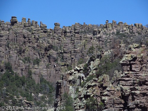 Rock formations along the Sarah Deming Trail, Chiricahua National Monument, Arizona
