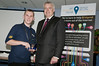 Junior Digital Champion Matthew barnard recieves his award from Carwyn Jones AM at the Get Bridgend Online launch