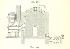 """British Library digitised image from page 754 of """"A practical Treatise on Metallurgy, adapted from the last German edition of Professor K.'s Metallurgy, by W. Crookes and E. Röhrig ... Illustrated, etc"""""""