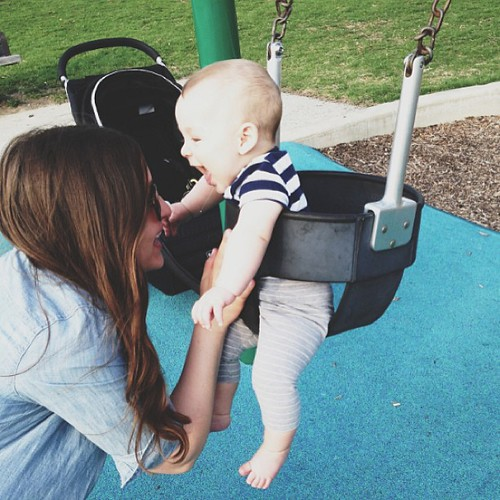 More swings, more drool, and a new post on the blog.