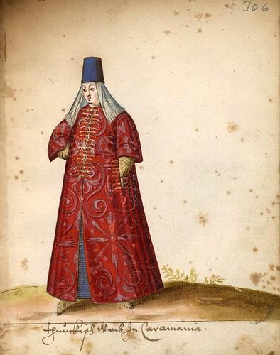015-Mujer turca de Karakaman-Türkisches Manierenbuch-1595- ORKA Open Repository Kassel
