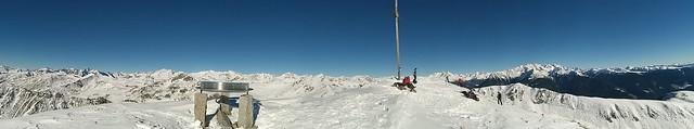 Gipfelpanorama Sambock, Kronplatzgebiet Südtirol