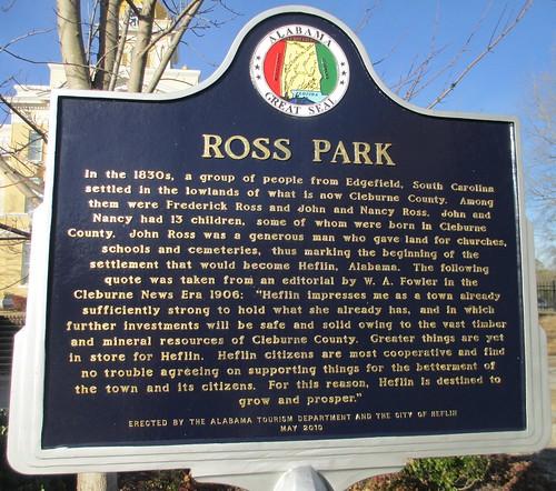 Ross Park Marker (Heflin, Alabama)