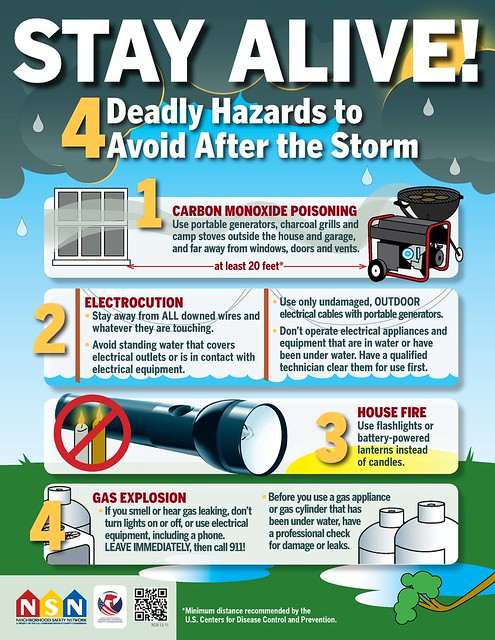 4 deadly hazard to avoid after a storm