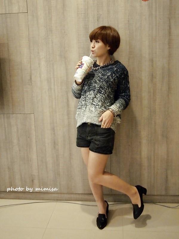 Queen Shop 毛衣 牛仔短褲 (4)