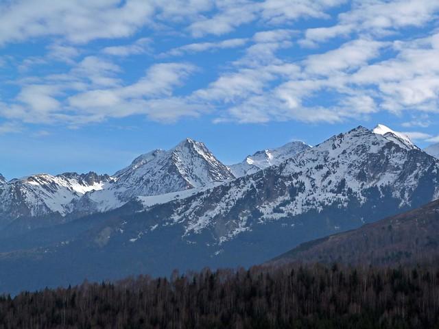 Foto de los Pirineos desde la localidad de Soulan (Francia)