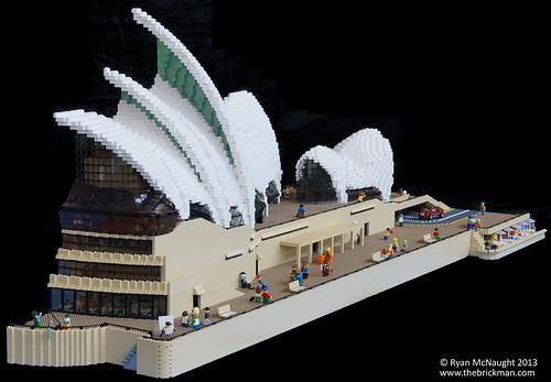 Cutaway Style Lego Sydney Opera House At Brickvention 2014