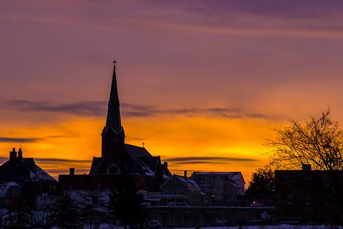 Vibrant Steeple Sunrise by KAM918