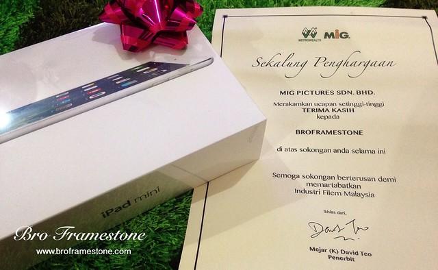 iPad Sijil Penghargaan MiG
