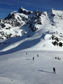 Our party below Mount Shuksan