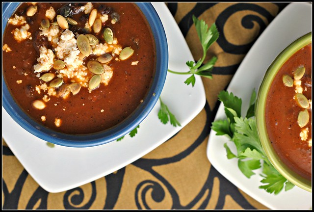 Black Bean Soup with Roasted Poblano Chiles 2