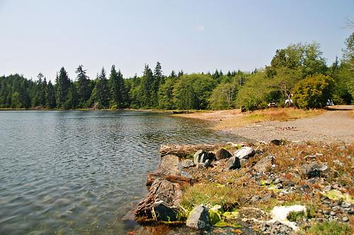 Rupert Arm Recreation Site on Rupert Inlet near Port Alice, Vancouver Island, British Columbia